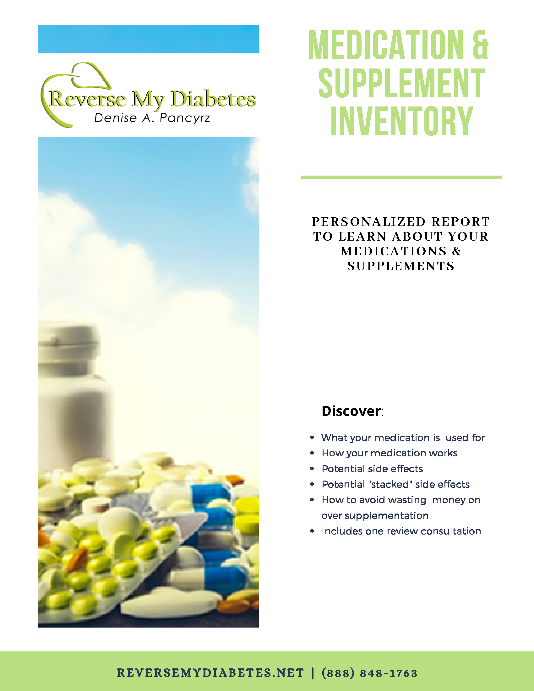 Medication & Supplement Inventory & Consultation - $75